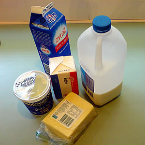 Manufactured dairy products